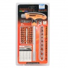 Jakemy JM-6106 43-in-1 Screwdriver + Bit Set - Orange + Black