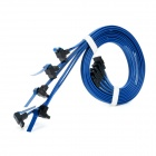 Dell Dual Channel SATA 3.0 Data Transmitting Cables - Blue + Black (5 PCS)
