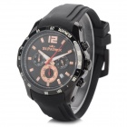 ST.PATRICK FI-4016 Men's Outdoor Sports Waterproof Rubber Band Quartz Wristwatch - Black (1xSR920SW)