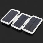JC4W60 Foldable 5000mAh Solar Powered External Battery Power Bank - White + Black
