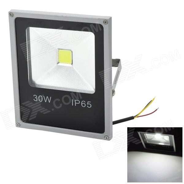 Marsing LL-01 30W 2500lm 6500K COB LED White Outdoor Spotlight - Black + Grey White (AC 85~265V) hobbywing skywalker 60a brushless esc electronic speed controller for fixed wing aircraft fpv