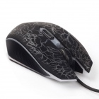 2400DPI Optical Adjustable 6D Wired Gaming Mouse for Laptop PC - Black