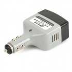 HST Universal Multifunctional Portable Car Charger for Cell Phone - Light Grey + Black (12~24V)