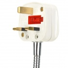 E27 to UK Plug Adapter Light Bulb Extension Socket Base Holder w/ Switch - White