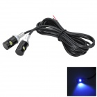 Marsing 1.5W 100lm 7000K Cool White Light LED Srew Shape License Lamp for Car / Motorcycle (2 PCS)