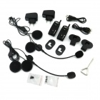 TWP-1200 Bluetooth Interphone Handset for Motorcycle / Skiing Helmet - Black (1200m / 2PCS)