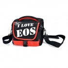 B83 Nylon + Cotton Camera Storage Shoulder Bag for Canon 450D / 500D / 550D + More - Black + Red