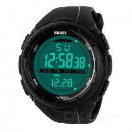 SKMEI Men's Digital Display Sport Watch - Black (4 PCS)