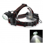 Pange J3 Cree XM-L T6 800lm 3-Mode White Light 300M Range Headlamp - Black + Silver (2 x 18650)