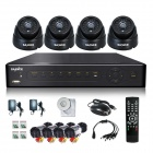 SANNCE 8-CH CCTV DVR + 4 Cameras Security System Set - Black (PAL / UK Plug)