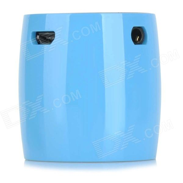EW-008-BT Mini Bluetooth V3.0 Speaker w/ Microphone - Blue + Silver