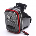 Rusuoo M86019 Bicycle Saddle Bag - Black + Red
