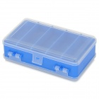 MG-332 Multifunctional Fishing Gear / Hook / Lure Supplies Box Case - Blue + Transparent