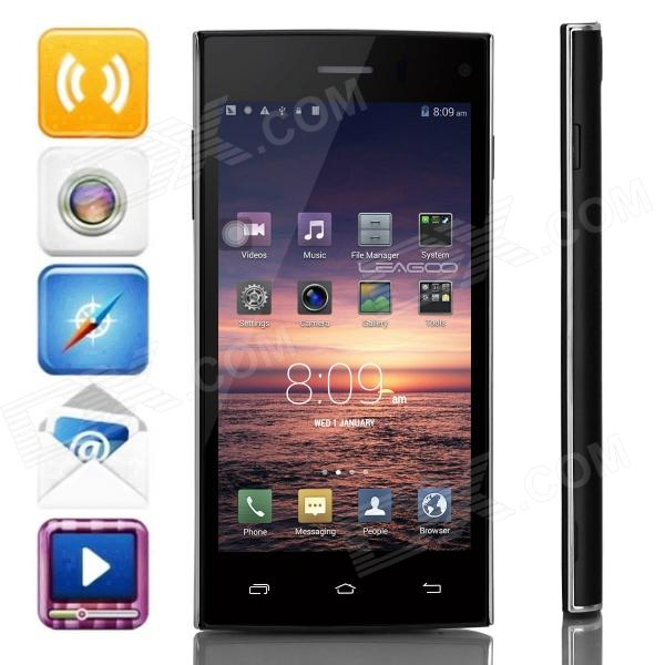 LEAGOO Lead3 MTK6582 Quad-core Android 4.4.2 WCDMA Bar Phone w/ 4.5 IPS QHD, FM, GPS - Black гарнитура a4tech hs 7p