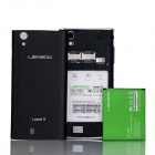 "4.4.2 WCDMA Bar LEAGOO Lead3 MTK6582 Quad-core Android Phone w / 4.5 ""IPS QHD, FM, GPS - Noir"