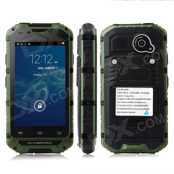 Discovery V6 4.0'' Screen MTK6572 Dual-Core Android 4.2.2 GSM Bar Phone - Army Green soyes s1 1 0 screen ultra thin mini dual band bluetooth v2 0 gsm card phone black army green