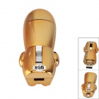 USB 2.0 + Micro USB OTG USB Flash Drive w/ Indicator - Golden (8GB)