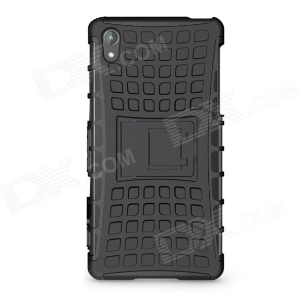 Protective TPU + PC Back Case w/ Holder for Sony Xperia Z2 / L50W - Black чехол книжка lazarr protective case для sony xperia z2 d6503 из экокожи black