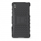 Protective TPU + PC Back Case w/ Holder for Sony Xperia Z2 / L50W - Black