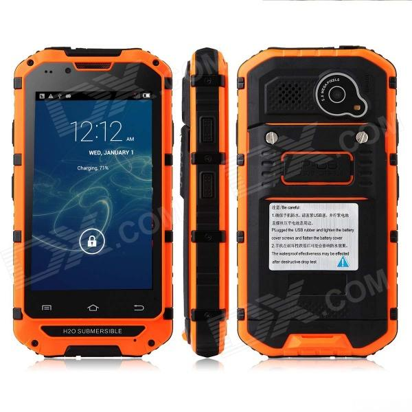 Discovery V6 MTK6572 Dual-Core Android 4.2.2 GSM Bar Phone w/ 4.0'' Screen / GPS - Orange z18 android 4 2 dual core gsm smart phone w fm wifi 2 4 capacitive screen gps orange