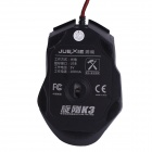 Juexie Rotary Steel K3 USB 2.0 800-1200-1600-2400DPI LED Optical Wired Mouse - Black + Silver