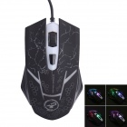 Juexie Lightning Panther G6 USB 2.0 1000-1600-2400DPI Wired LED Optical Gaming Mouse - Black