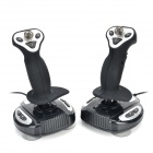 DILONG P3950 USB 2.0 Wired Flight Joysticks for PS3 - Black + Siver (2 PCS)