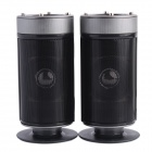 Jeway JS-3116 2.0 Channel Fashion Multimedia Speaker Set for Laptop / Tablet PC - Black + Silver