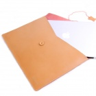 "Oushine M15 Retro Leather File / Computer Liner Bag for 15.4"" MACBOOK AIR / Pro - Brownish Yellow"