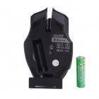 Juexie X1 2.4GHz Wireless 1000-1600DPI LED Optical Mouse - Black