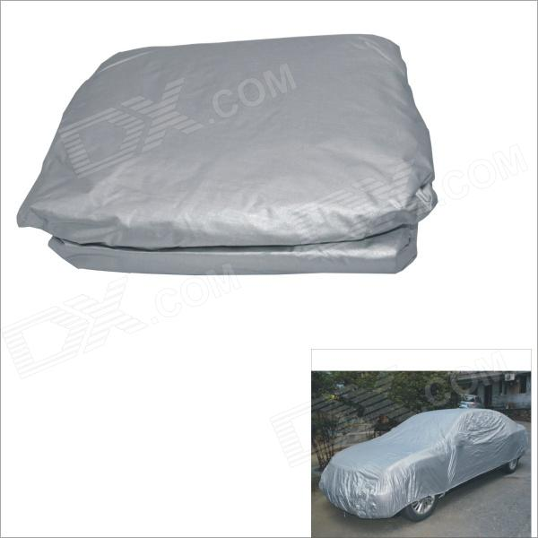 Carking XXFT Outdoor Hatchback Car Anti Dust Cover for Fiesta - Silver Grey