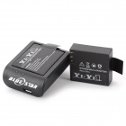 2 x 3.7V 900mAh Li-ion Battery + Charging Dock + Charging Cable Set for SJ4000 Sport Camera - Black