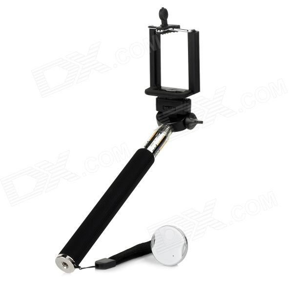 Universal Adjustable Phone Handheld Monopod Mount Holder + Bluetooth V3.0 Self-Timer Set - White - DXMounts &amp; Holders<br>Supports iOS6 and above version; supports Android 4.2.2 and above.<br>