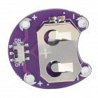 LilyPad Cell Button CR2032 Battery Holder Module - Purple