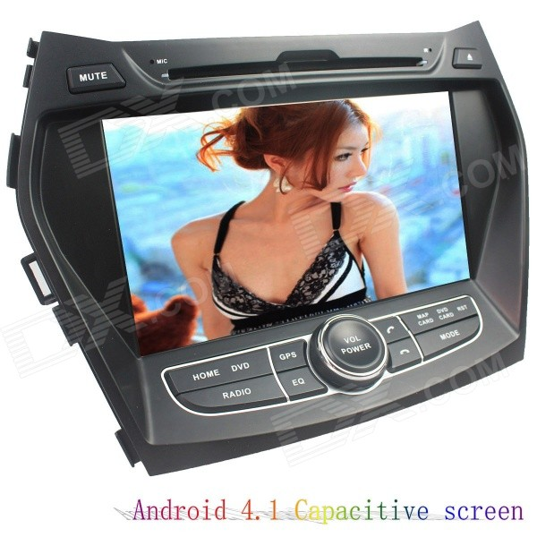 LsqSTAR 7 Android4.1 Capacitive Screen Car DVD Player w/ GPS WiFi SWC AUX for Hyundai IX45/Santa Fe lsqstar 7 android4 1 capacitive screen car dvd player w gps wifi swc aux for hyundai ix45 santa fe
