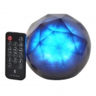 Magic Colorful Lighting USB 2.0 Bluetooth V3.0 2-CH Speaker w/ TF Slot + Remote Control - Black