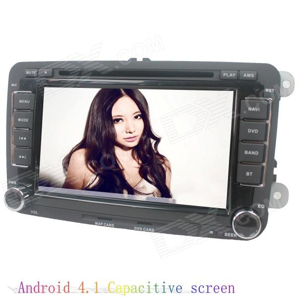 LsqSTAR 7 Android4.1 Capacitive Screen Car DVD Player w/ GPS WiFi Canbus AUX for Volkswagen Series