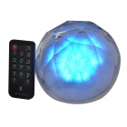 Magic Colorful Lighting USB 2.0 Bluetooth V3.0 2-CH Speaker w/ TF Slot + Remote Control - White