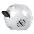 Magia colorida iluminación USB 2.0 Bluetooth V3.0 2-CH Speaker w / TF Slot + Control Remoto - Blanco