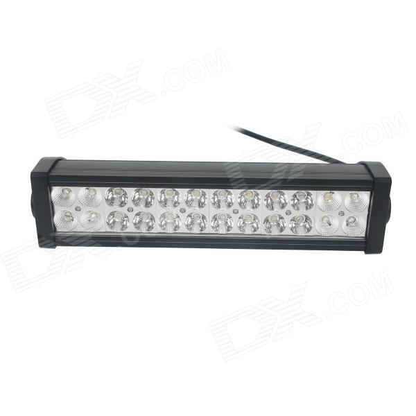 GULEEK 72W Mixing 5040lm 6000K 24-LED White Light Working Lamp Bar for Car / Boat 36w 2520lm 6000k 12 epistar led waterproof spotlight working lamp bar for car boat black