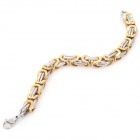 SHIYING SL0021 Men's 316L Stainless Steel Bracelet - Golden + Silver