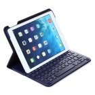 Bluetooth V3.0 60-Key Keyboard w/ PU Leather Flip Open Case for IPAD AIR - Blue