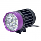 Buy TrustFire TR-D014 7-LED 2400lm 4-Mode White Bicycle Light - Grey + Purple (4 x 18650)