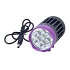 TrustFire TR-D014 7-LED 2400lm 4-Mode White Bicycle Light - Grey + Purple (4 x 18650)