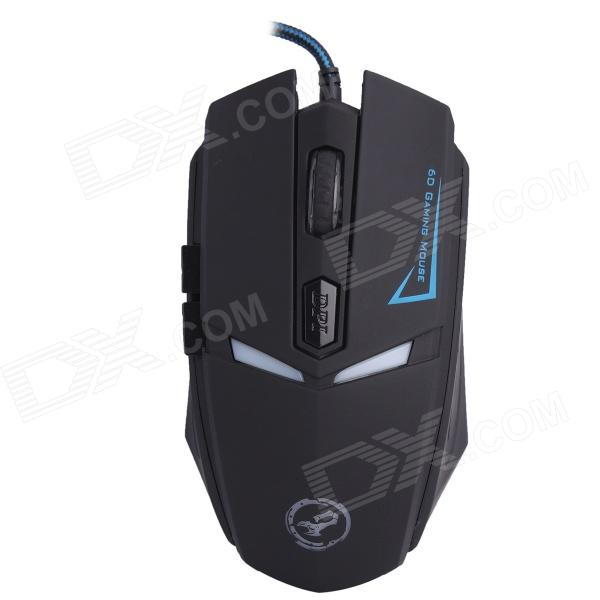 Juexie USB 2.0 Wired LED Optical 600-1200-1600DPI Gaming Mouse - Black (Cable-160cm)