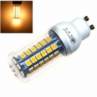 ZHISHUNJIA GU10 9W 630lm 3000K 48-SMD 5050 LED Warm White Light Corn Lamp - White (AC 85~265V)