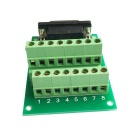HF 8Pin 5.08 Female Block Terminal DB15 Connector Module - Green