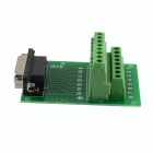 5.08 Male Terminal Block DB15 Connector Module - Green