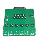 HF 6Pin 5.08 Female Block Terminal DB9 Connector Module - Green