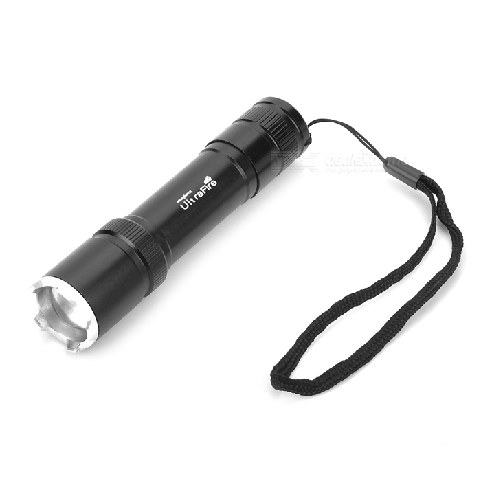 UltraFire HP-3 Flood-to-Throw Zooming LED 150lm 3-Mode White Flashlight - Black (1 x 18650)